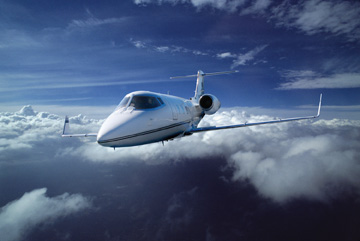A Learjet 55 is part of the fleet at Schubach Aviation