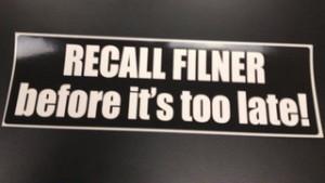 Recall sticker
