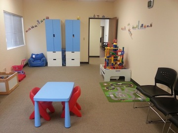 Clinic room at the San Marcos treatment facility of the Center for Autism and Related Disorders.