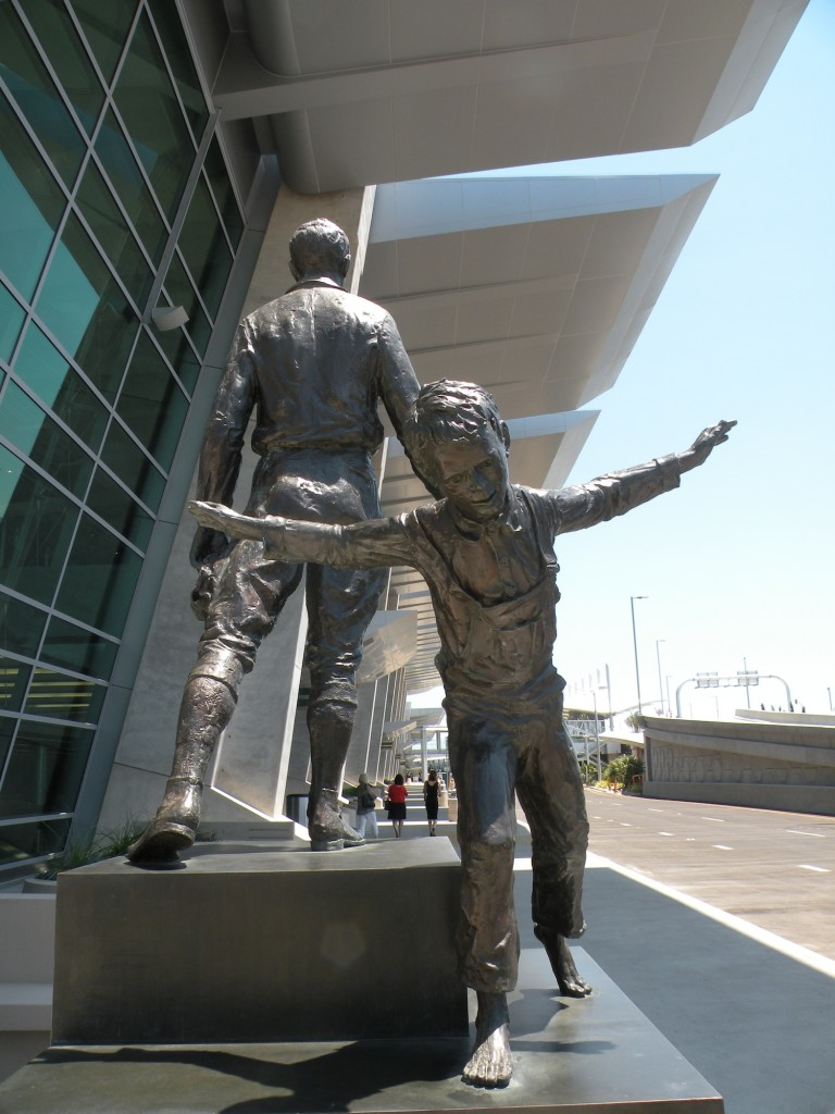 Sculptures outside of Terminal 2