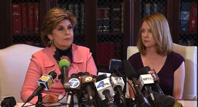 Attorney Gloria Allred (left) with Bronwyn Ingram, Filner's ex-fiancee