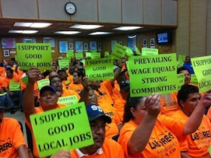 Prevailing wage advocates
