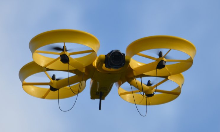yellow UAV