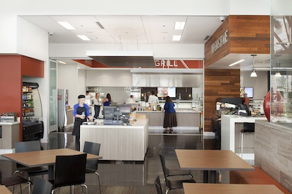 The new ViaSat Mega Bit Café, build by Pacific Building Group, is an example of the growing trend of employers focusing on amenities to boost employee recruitment, retention and productivity.