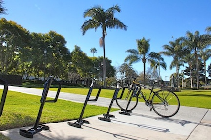 USD completed the replacement of older bike racks around campus, installing the more secure, U-Lock friendly bike racks.