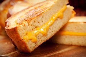 The popular grilled cheese sandwich