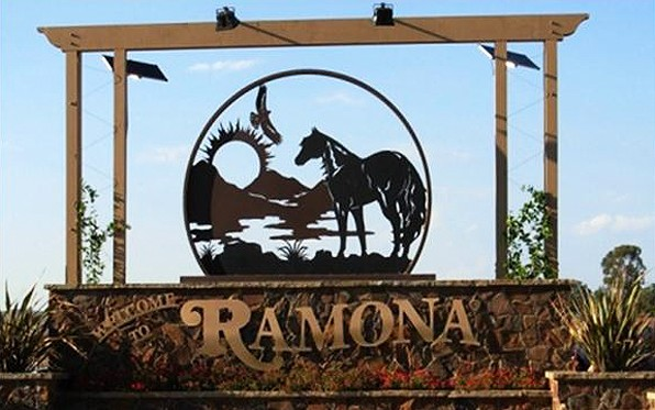 Ramona Welcome Sign