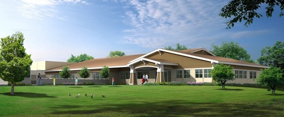 Rendering of Child Development Center to be built in the Murphy Canyon area.