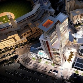 Rendering of Ballpark Village prepared by Carrier Johnson + Culture