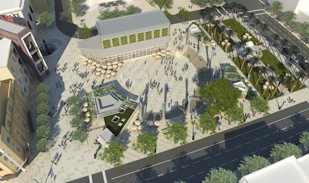 Artist's rendering of Horton Plaza Park project