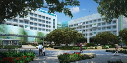 Rendering of the new Kaiser  Permanente Hospital to be built in Kearny Mesa
