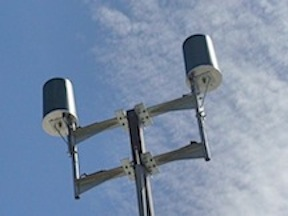 An example of a Distributed Antenna System atop a light pole.