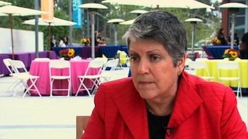 Janet Napolitano is president of the University of California system. She served as Secretary of Homeland Security from 2009 to 2013. (Photo/Katie Schoolov)