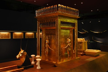 Canopic Shrine –During mummification, the body's bowels were removed and buried in four jars, called canopic jars, and can be seen in the reproduction of the shrine for the exhibition.