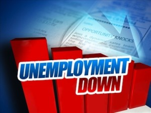 Jobless rate down