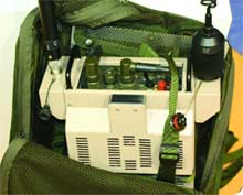 An example of a backpack jamming system