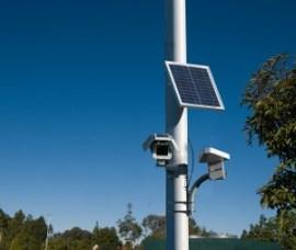 MicroPower's solar-powered, wireless surveillance video camera