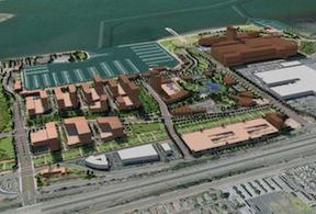 An early version (2008) of the Chula Vista Bayfront Master Plan