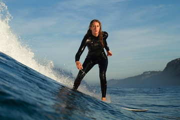 Niki Sfeir of the UC San Diego surf team.