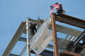 Heart and Vascular Center topping out