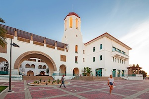 The Aztec Student Union was named in honor of Conrad Prebys, who gifted $20 million to The Campaign for SDSU. (Photo/Pablo Mason)