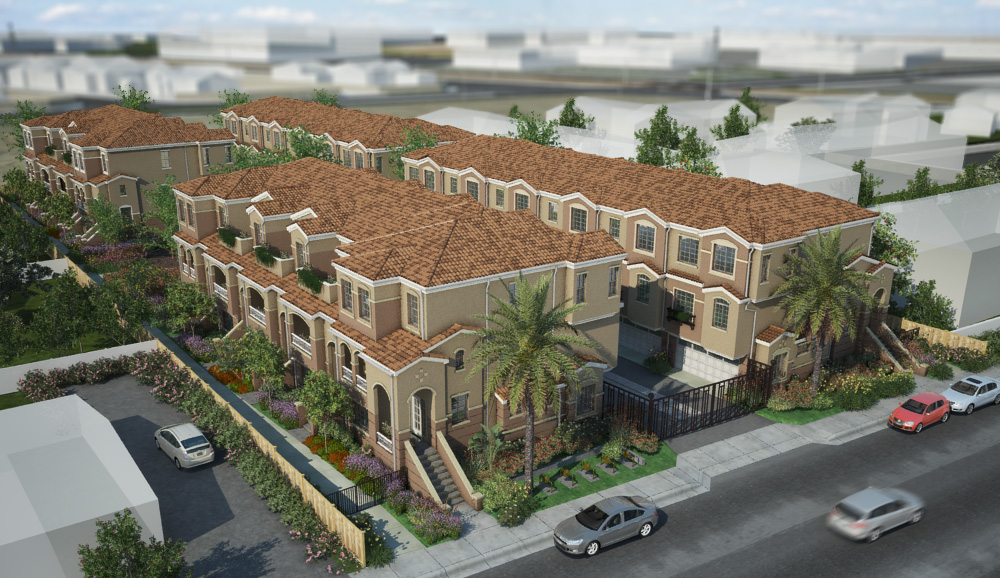 Rendering of the Bahia Vista Townhomes