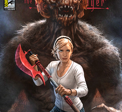 "At Dark Horse's Comic-Con booth, No. 2615: ""Buffy the Vampire Slayer"" cover, $5. (Photo/Comic-Con.org)"