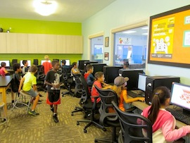 Classroom at the Ron Roberts Branch of the Boys & Girls Clubs in Linda Vista.