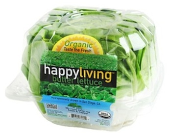 Go Green Agriculture's Happy Living lettuce brands.