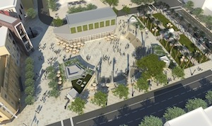 Rendering of Horton Plaza Park