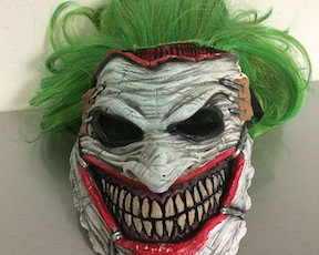 "At Graphitti Design's Comic-Con booth, No. 2314: Scary Joker mask from ""Batman,"" $30. (Photo/Comic-Con.org)"