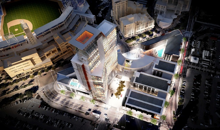 Rendering of the Ballpark Village project.