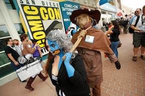 Comic-Con fans parade
