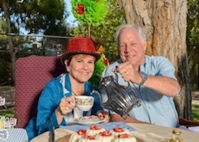 Patti Roscoe and Jim Tiffany, co-chairs of Urban Campout: Adventures in Wonderland, will host an evening of fun and fantasy on Sept. 12 at Girl Scouts San Diego's Balboa Campus.