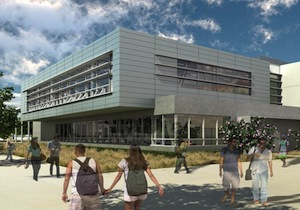 Rendering of Mesa College Fitness Center.