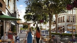 Rendering of One Paseo Main Street