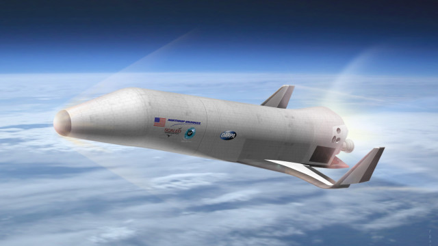 An artist's concept of an experimental Spaceplane. (Image courtesy Northrop Grumman)