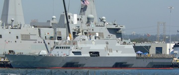 USS Fort Worth in San Diego. A Lockheed Martin team helped design and build the littoral combat ship.