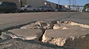 An example of deteriorating road conditions in San Diego. Photo credit: Fox5SanDiego.com
