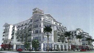 Rendering of resort project to be built by S.D. Malkin Properties in Oceanside.