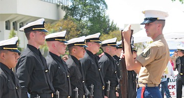More than 60 uniformed cadets from SDSU's ROTC Army, Navy and Air Force programs will participate in the ceremony.