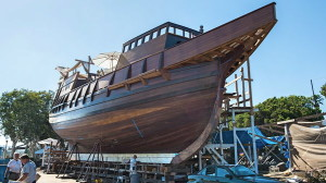 The San Diego Maritime Museum's replica of Juan Rodriguez Cabrillo's flagship San Salvador is nearing completion.