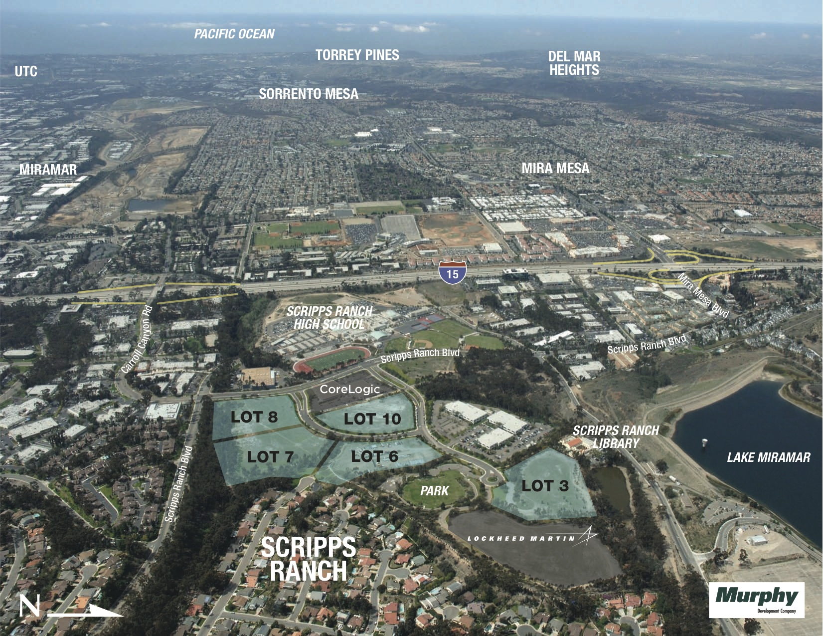 Parcels acquired by Murphy Development for a planned technology park.