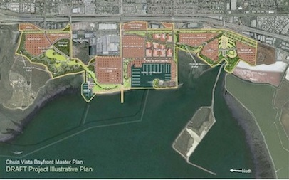 The Chula Vista Bayside Master Plan as it was presented in 2012.