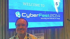 Christian Bynes of Gartner Inc. at CyberFest2014. (Photo by Chris Jennewein)