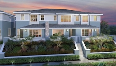 Rendering of the Level 15 townhomes