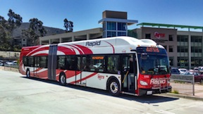 An MTS Rapid bus. (Photo/Chris Jennewein)