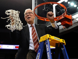 San Diego State University's men's basketball head coach Steve Fisher