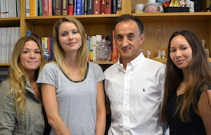 Authors of the new study, from left: Anne Constanzo, Marie Holt, Luc Teyton and Lisa Kain of The Scripps Research Institute.