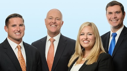 Member of Colliers International's Urban Property Group, from left: David Maxwell, Bill Shrader, Serena Patterson, and Joe Brady.